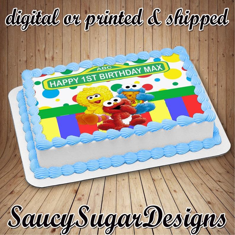 Sesame Street Edible Cake Imagesesame
