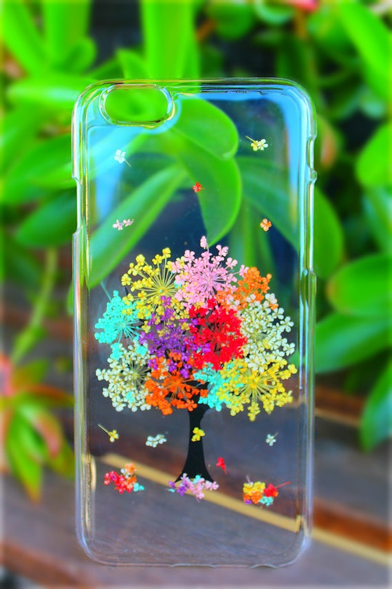 Tree Of Life Pressed Dried Rainbow Tree Flowers Lg V30 Lg V20 Lg G6 Lg G5 Lg G4 Htc A9 Clear Hard Plastic Snap On Phone Case