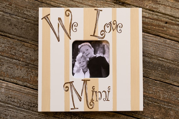 Personalized We Love Mimi Grandparent Picture Frame 3x3 Etsy