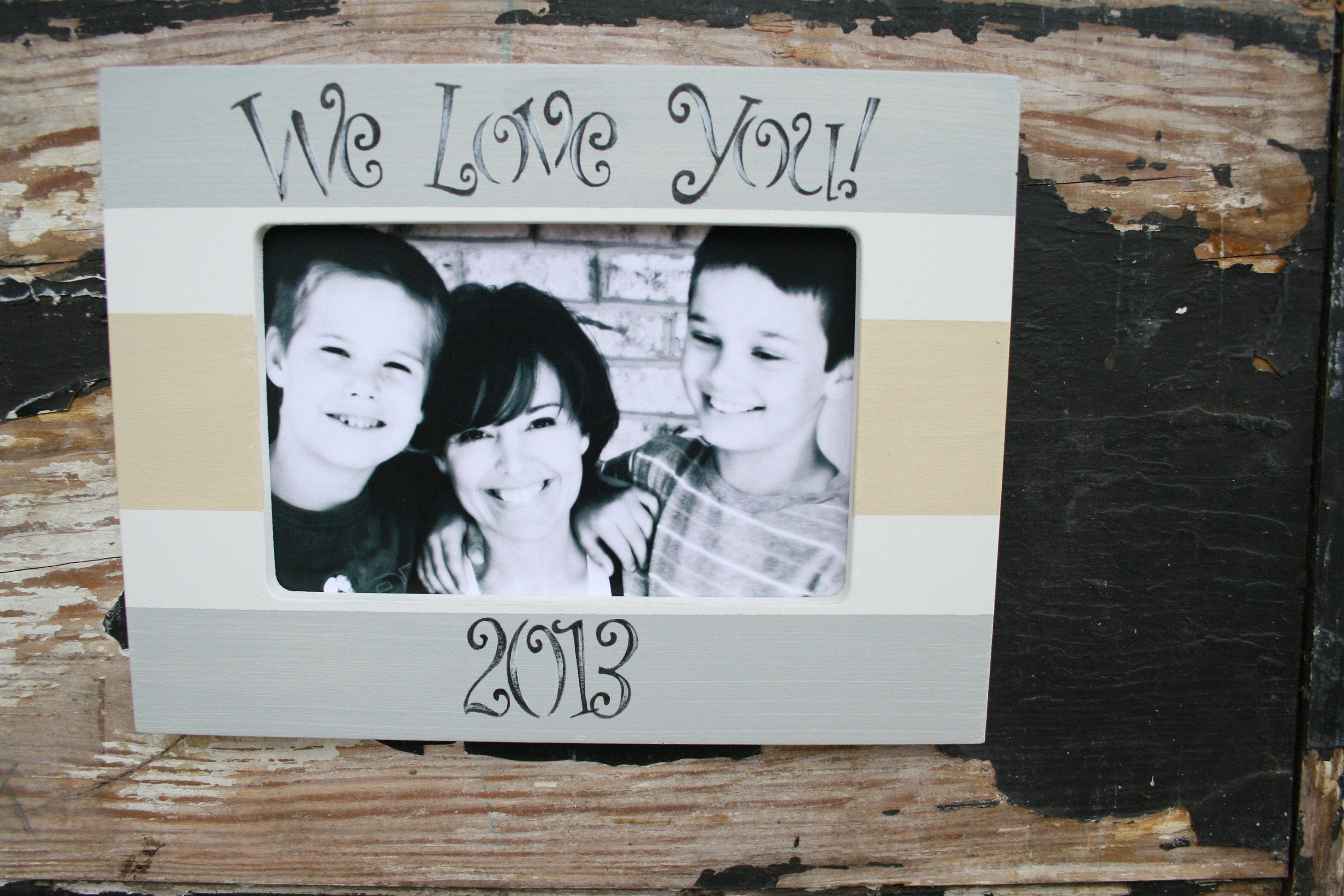 Personalized We Love You Picture Frame 5x7 in Horizontal | Etsy