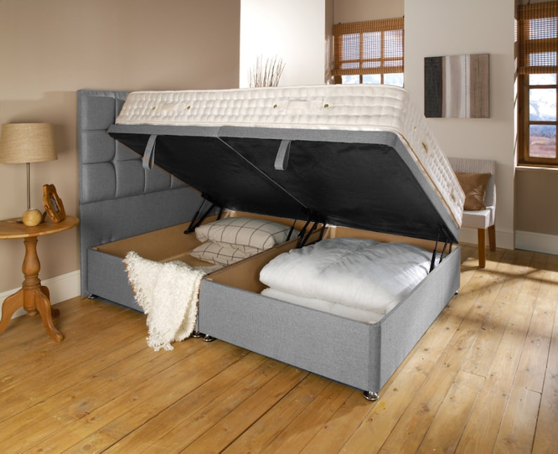 Outstanding Side Opening Ottoman Bed Uk Double King Size Single Available In Many Fabrics Gmtry Best Dining Table And Chair Ideas Images Gmtryco