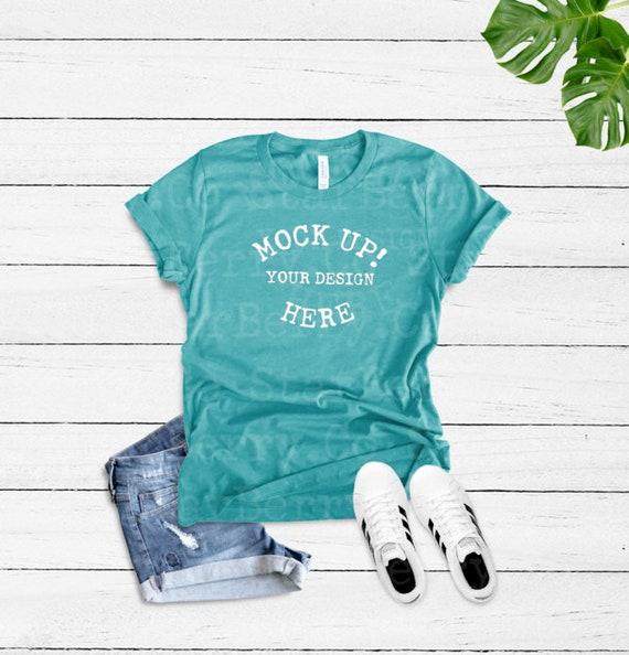 Styled Feminine Mock Up Holiday Mockup Bella Canvas 3001 3413 Mockup Unisex T-shirt Mock Up Shirt Mock Up T-Shirt Mock Up Mock Up