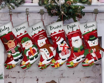 personalized christmas stocking personalized stocking custom stocking monogram christmas stocking custom christmas stocking family stockings