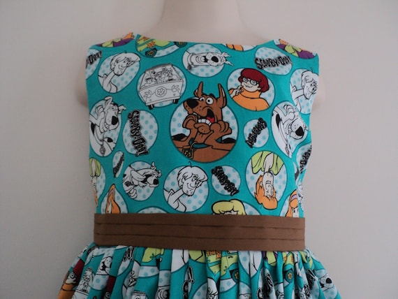NEW Handmade VHTF Cute Scooby Doo Dress Custom Size 12M-10Yrs