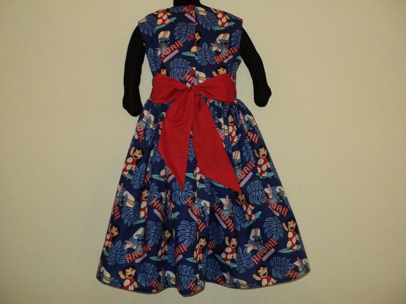 NEW Handmade Disney Lilo And Stitch Hawaii Blue Dress Custom Size