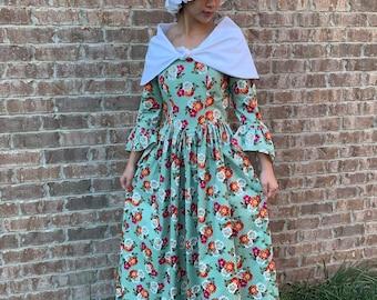NEW Handmade Historical Play Colonial Village Pioneer Woman 3pc Costume Dress Set Custom Size