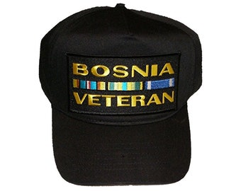 Bosnia Veteran w/ Ribbons Hat Cap