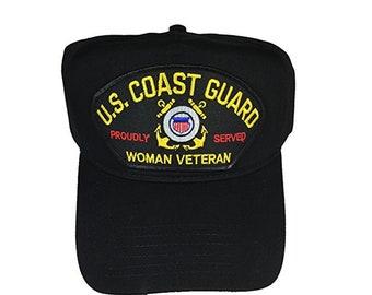 USCG United States Coast Guard Woman Veteran Hat Cap b4c0e9ce2b92
