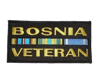 Bosnia Veteran w/ Ribbons Patch