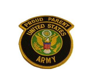 SOLDIER EMBROIDERED MILITARY  PATCH PROUD ARMY DAD FATHER   OF A U.S