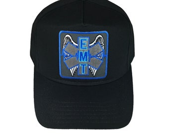 EMT Emergency Medical Technician with Angel Wings Hat Cap 10a63df983d