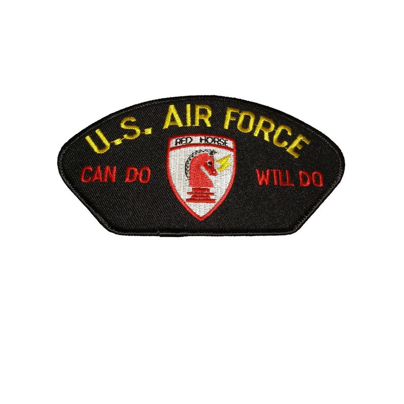 USAF Air Force Red Horse Can Do Will Do Patch