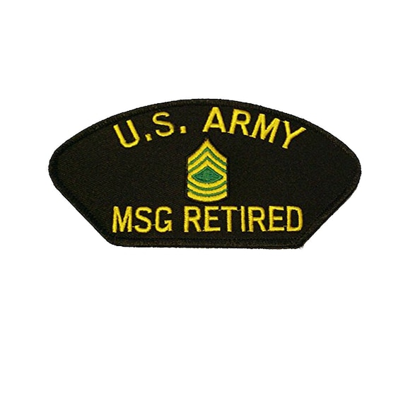 824250dc6df US Army Master Sergeant MSG Retired E-8 Rank Patch