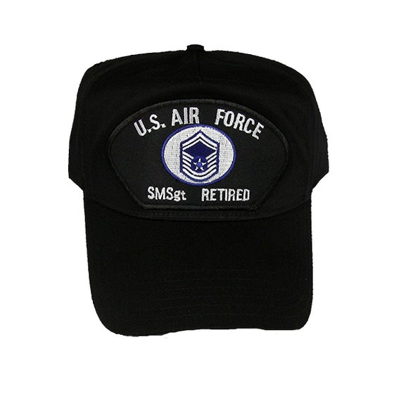 491c9b58aa9 USAF Air Force SMSgt Senior Master Sergeant E-8 Retired Hat Cap