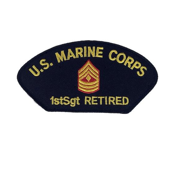 4d0edfd317e USMC Marine Corps 1stSgt First Sergeant E-8 Retired Patch