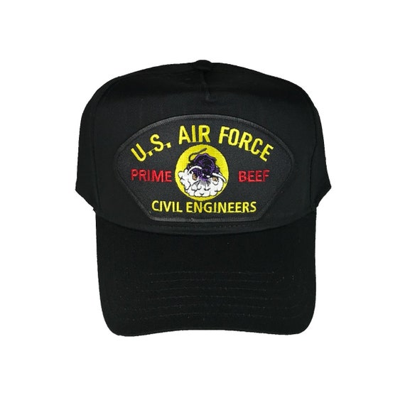 USAF Air Force Prime Beef Civil Engineer Hat Cap  a47fe3bf408a