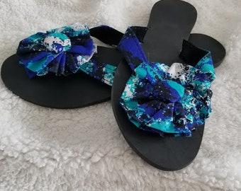 African/Ankara Fabric Slippers