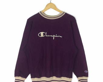 2c772a472639f Vintage 80s Champion Big Logo Reverse Weave Sweatshirt Made In Usa  Embroidery Spellout Size M