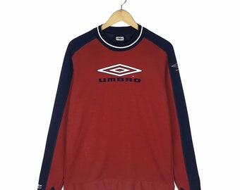 2e8bc5f24828 Vintage Umbro Crewneck Sweatshirt Training Sweatshirt Big Logo Embroidered  Spellout Pullover Jumper Size L