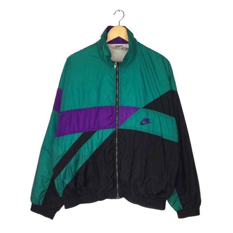 012811120a50 Vintage 90 s Nike Swoosh Grey Tag Windbreaker Zipper