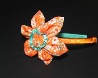 Hair Band,Orange flower hairband
