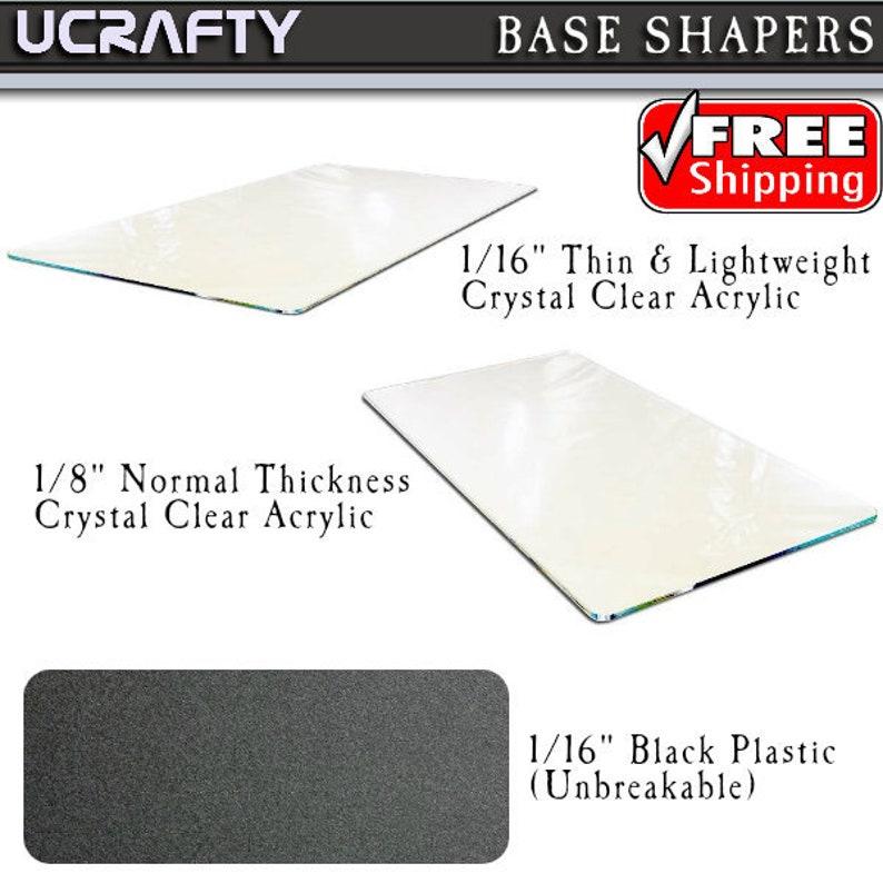 "Plexiglas Insert Custom Base Shaper 1//16/"" Lightweight Clear Acrylic up to 18 for Any Stella McCartney Tote Bag Handbag Purse Plastic Plexiglass Bottom"