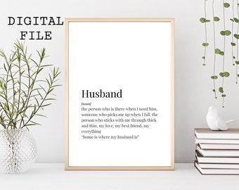 Prints Husband Print Definition Gift For Birthday Christmas Wall Decor