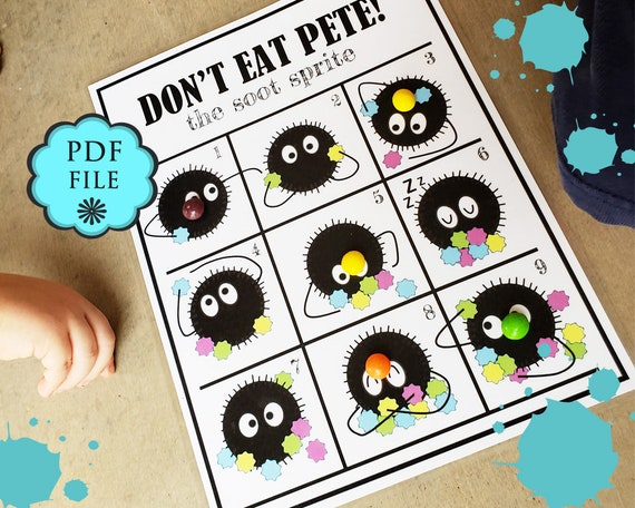 Soot Sprites Printable Don T Eat Pete Game Group Games Etsy
