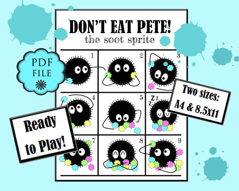 image regarding Don't Eat Pete Printable referred to as Soot Sprites PRINTABLE, Dont Take in Pete Recreation, Local community video games, Printable bash video games, Preschool game titles, Birthday video games, Cl Get together, Miyazaki