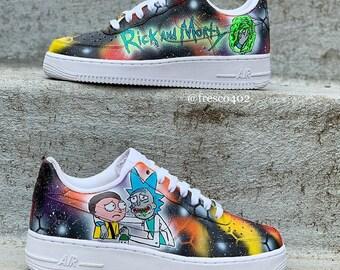 aec02cc459d Rick And Morty Custom Shoes