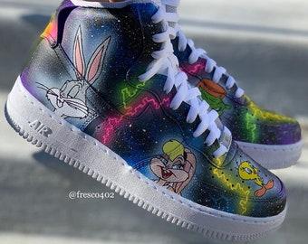 the latest 1385c b17e8 Custom Space Jam Shoes