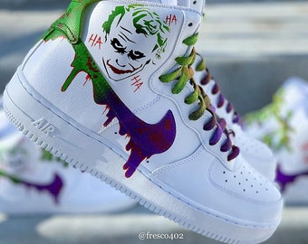 a5816bb1fce9b7 Custom Joker Nike Air Force 1s