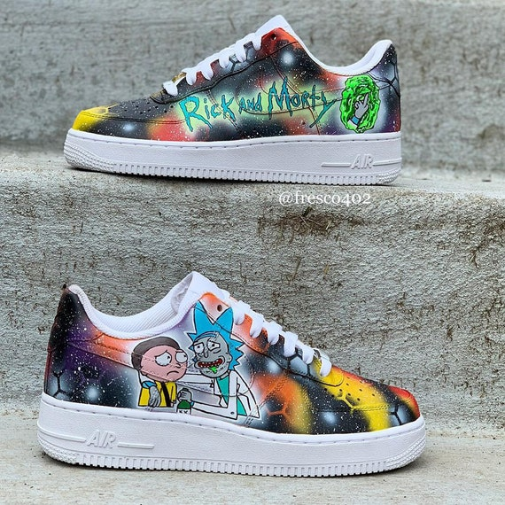 Rick And Morty Custom Shoes by Etsy