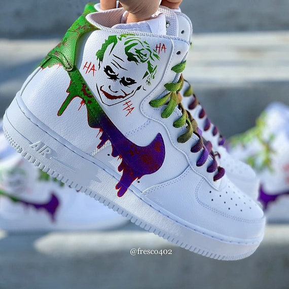 Custom Joker Nike Air Force 1s