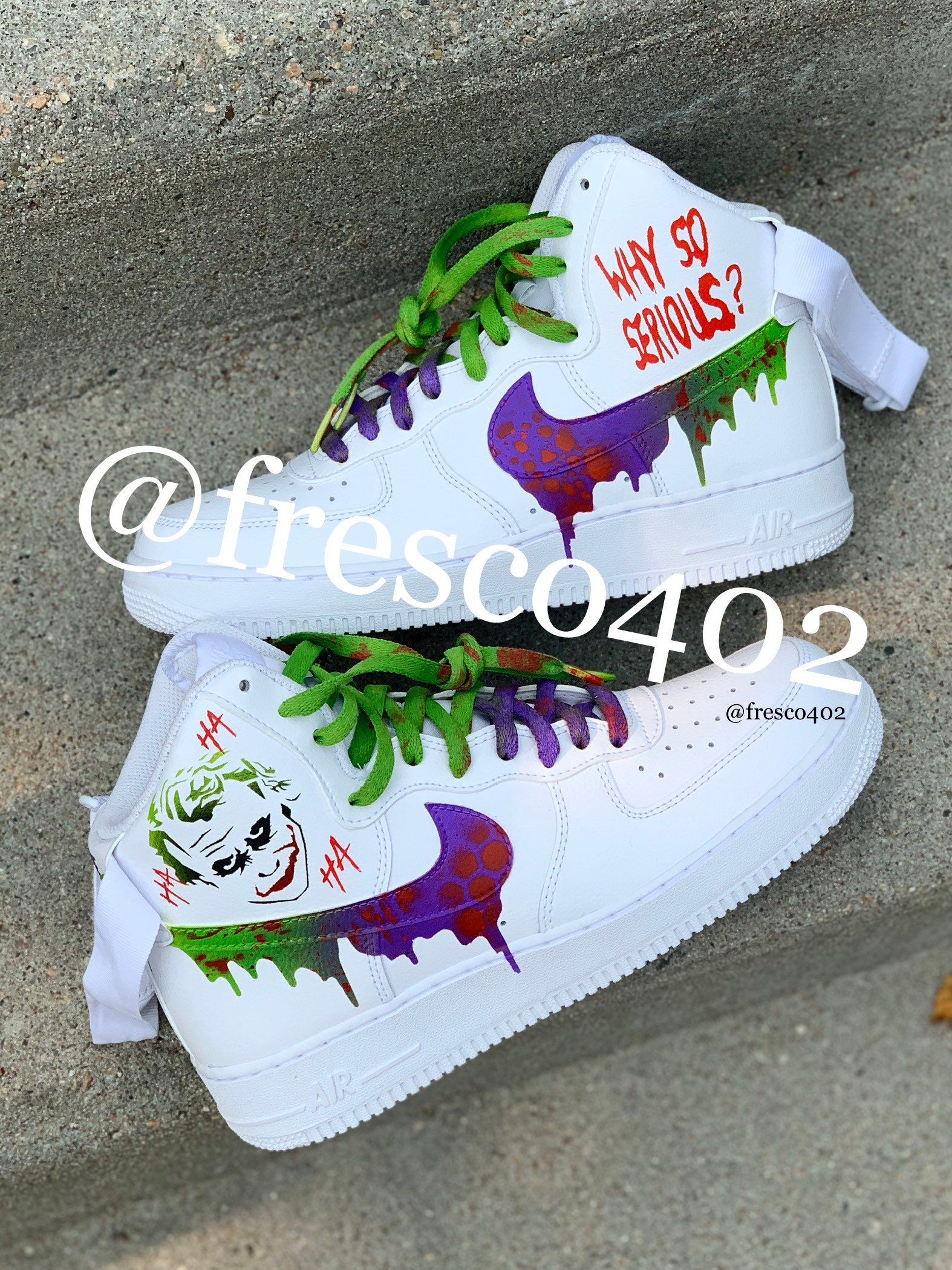 Custom Joker Nike Air Force 1s