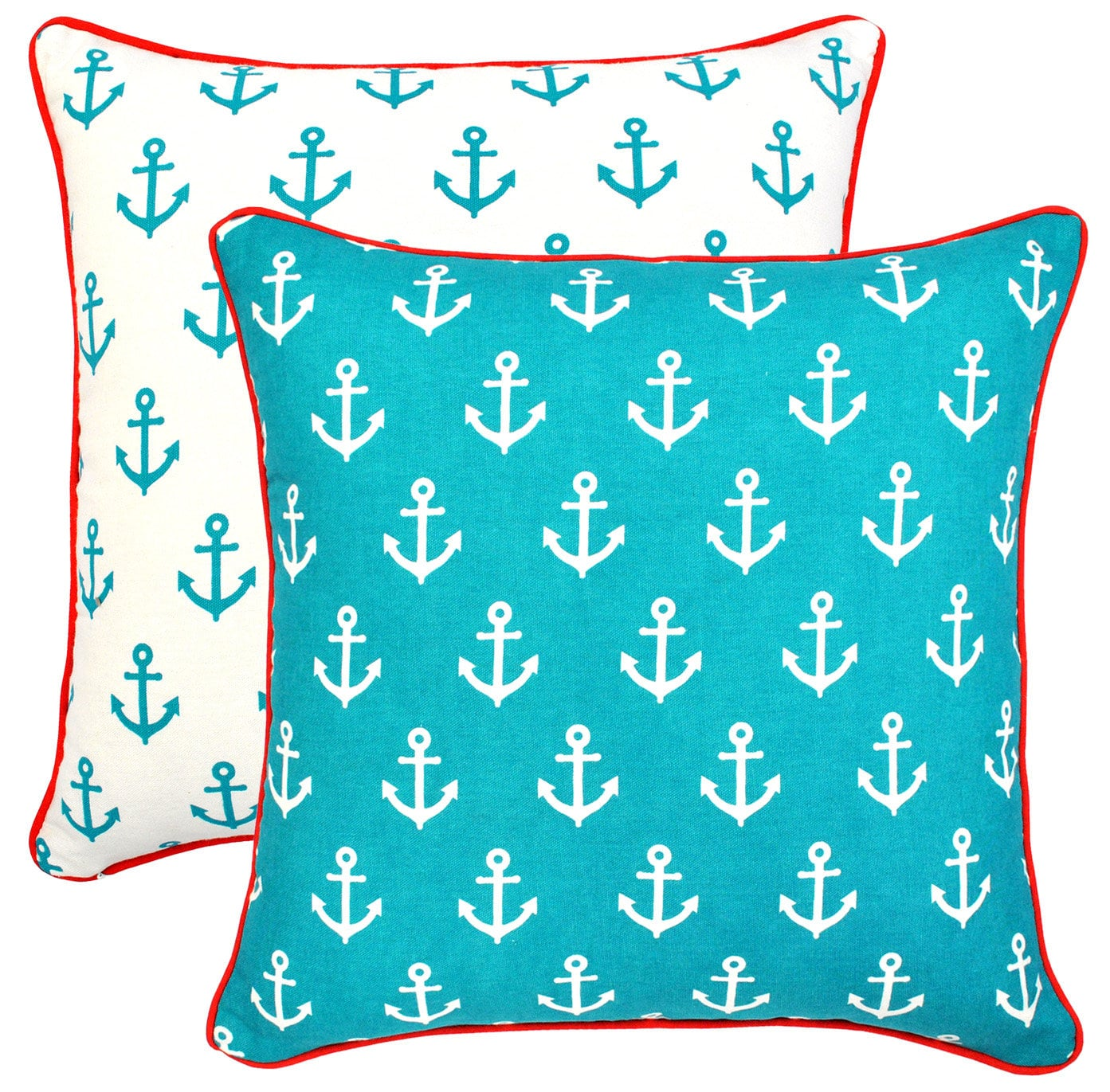 treewool 2 pack throw pillow covers anchor decor accent etsy. Black Bedroom Furniture Sets. Home Design Ideas