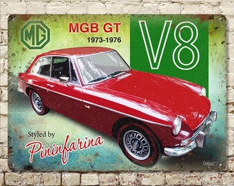 MG MGBGT Retro Poster Classic car white t shirt