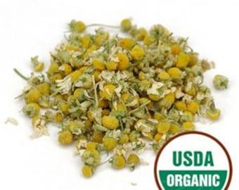 Chamomile Flower, whole organic 1 oz