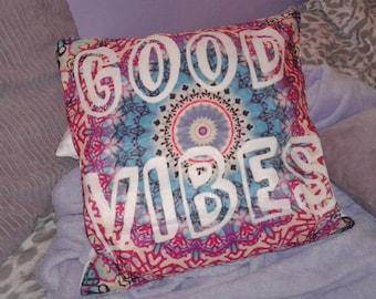 Good Vibes cushion cover   Motivational   Positivity