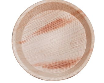 Pack of 25 - Round 20cm Plates, Eco-Friendly, Disposable plates,Biodegradable