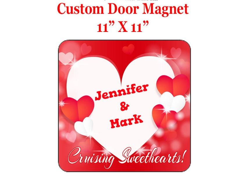 Include your custom text Custom door magnet 11 X 11 Cruise Ship Door Magnet