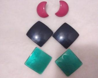 Vintage Button Style Pierced Earrings