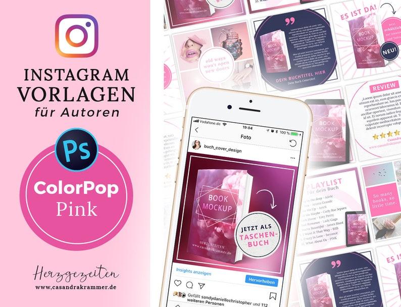 Instagram Vorlagen für Autoren  ColorPop PINK image 0