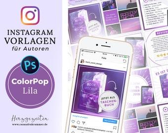 Instagram Vorlagen für Autoren - ColorPop LILA