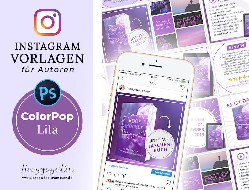 Instagram Vorlagen für Autoren  ColorPop LILA image 0