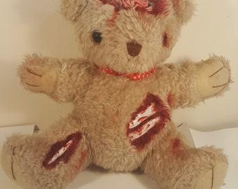 zombie. horror Brains teddy bear.