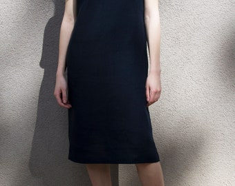 5a261c1075 Linen dress  Simple summer dress   Short sleeve tunic  Basic linen dress   Handmade by elen do