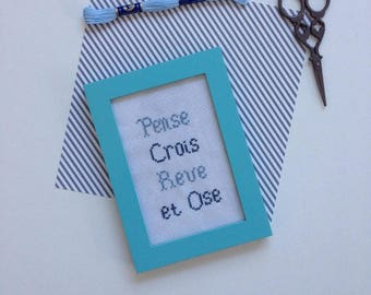 (Quote) cross stitch frame