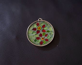 Red Flowers Pendant