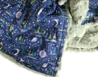 Peter Pan Baby Blanket.Peter Pan Flight Over London To Neverland Gender Neutral Etsy